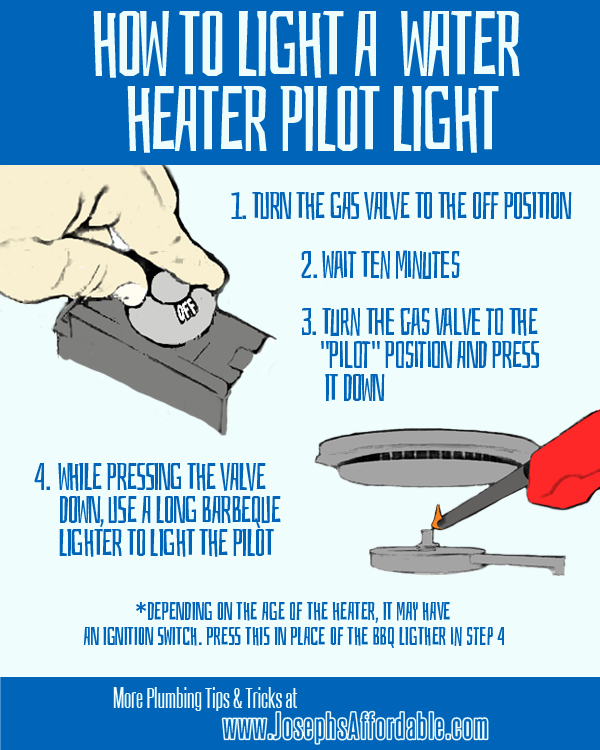 How To Light A Water Heater Pilot Light